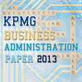KPMG Business Administration Paper 2013 Grand Final