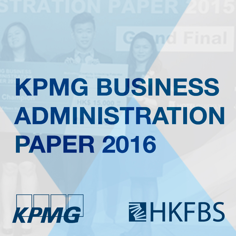 KPMG Business Administration Paper 2016