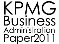 KPMG Business Administration Paper 2011 - Oral Presentation Day